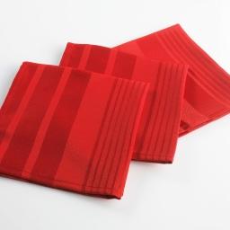 3 serviettes de table 40 x 40 cm jacquard damasse smart Rouge