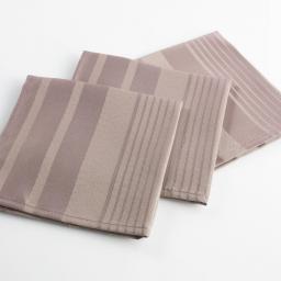 3 serviettes de table 40 x 40 cm jacquard damasse smart Taupe