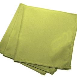 3 serviettes de table 40 x 40 cm polyester uni essentiel Anis