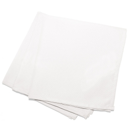 3 serviettes de table 40 x 40 cm polyester uni essentiel Blanc