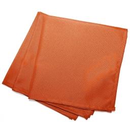 3 serviettes de table 40 x 40 cm polyester uni essentiel Brique