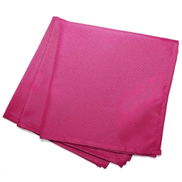 3 serviettes de table 40 x 40 cm polyester uni essentiel Fuchsia