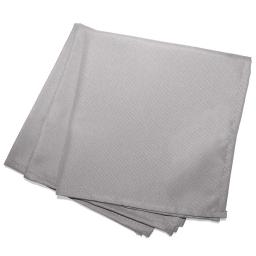 3 serviettes de table 40 x 40 cm polyester uni essentiel Gris