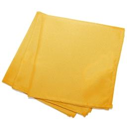 3 serviettes de table 40 x 40 cm polyester uni essentiel Jaune