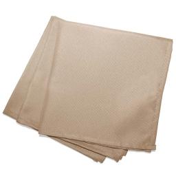 3 serviettes de table 40 x 40 cm polyester uni essentiel Lin