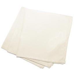 3 serviettes de table 40 x 40 cm polyester uni essentiel Naturel