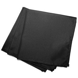 3 serviettes de table 40 x 40 cm polyester uni essentiel Noir