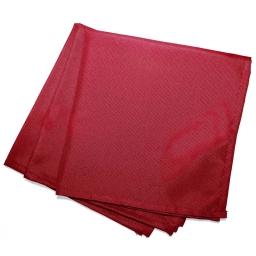 3 serviettes de table 40 x 40 cm polyester uni essentiel Rouge
