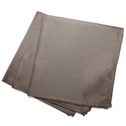 3 serviettes de table 40 x 40 cm polyester uni essentiel Taupe