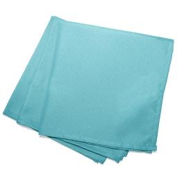 3 serviettes de table 40 x 40 cm polyester uni essentiel Turquoise