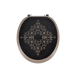 abattant wc mdf charnieres metal luxury black