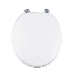 abattant wc mdf charnieres metal urban blanc
