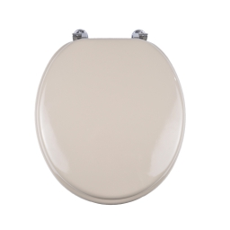abattant wc mdf charnieres metal urban taupe