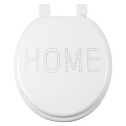 abattant wc mdf charnieres plastique glitter home blanc