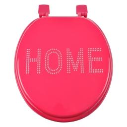 abattant wc mdf charnieres plastique glitter home fuchsia