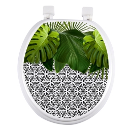 abattant wc mdf charnieres plastique graphic jungle