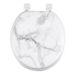Abattant wc mdf charnieres plastique marbre