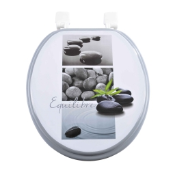 abattant wc mdf charnieres plastique stone