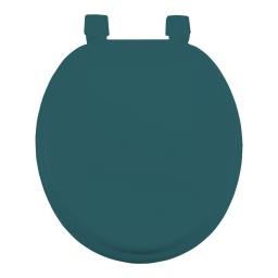 Abattant wc mdf charnieres plastique vitamine bleu emeraude Bleu/emeraude