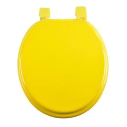 abattant wc mdf charnieres plastique vitamine jaune