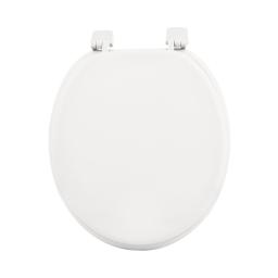 Abattant wc mdf uni  charnieres plastique theme vitamine Blanc