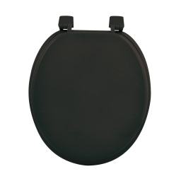 Abattant wc mdf uni  charnieres plastique theme vitamine Noir