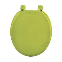 Abattant wc mdf uni  charnieres plastique theme vitamine Vert anis