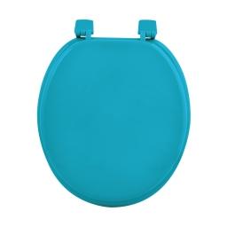 Abattant wc mdf uni  ocean charnieres plastique theme vitamine Bleu
