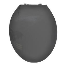 Abattant wc plastique gris  charnieres plastique theme vitamine Anthracite
