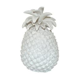ananas polyresine 19.5*19*h29.5cm blanc