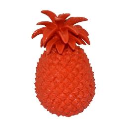 ananas polyresine 19.5*19*h29.5cm rouge