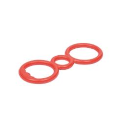 anneaux de traction en caoutchouc 23.5x10cm rouge