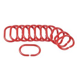 anneaux rideau de douche rouge opaque/12 - douceur d'interieur - theme vitamine