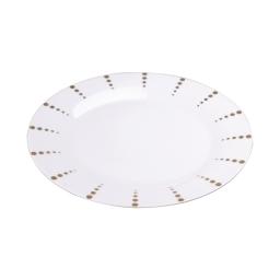 assiette creuse en porcelaine - dessin poussiere d'or - 24cm