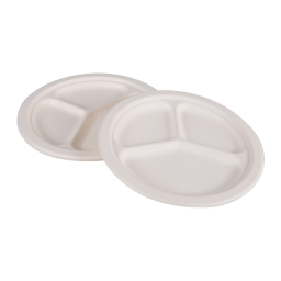 assiette d230cmx20.6mm compartimentee-14gr-en canne sucre lot de 6pcs
