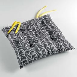 Assise  Assise matelassée 40 x 40 cm 100% coton imprimé modern style Jaune
