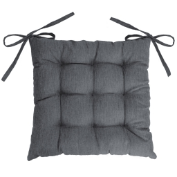 Assise matelassee 40 x 40 cm chambray uni newton Anthracite