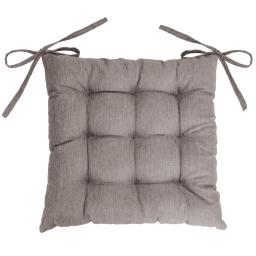 Assise matelassee 40 x 40 cm chambray uni newton Lin