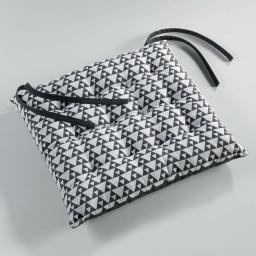 assise matelassee 40 x 40 cm coton imprime attica
