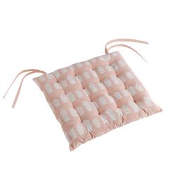 Assise matelassee 40 x 40 cm coton imprime carlota Nude