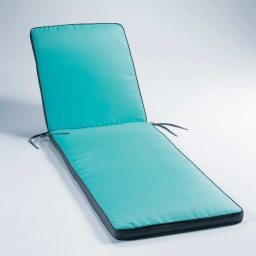 Bain de soleil 185 x 55 x 4 cm polyester bicolore oasis Aqua/Anthracite