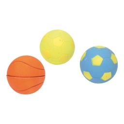 balles pour chien en caoutchouc/3 orange/bleu/vert dia 5.5cm