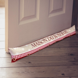 bas de porte 85 x 15 cm polyester imprime maison du bonheur