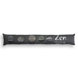bas de porte 85 x 15 cm polyester imprime zen stones