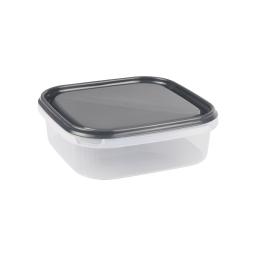 boite carre 1.3l avec couvercle - 19.5*19.5*h6cm - anthracite