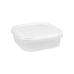 boite carre 1.3l avec couvercle - 19.5*19.5*h6cm - blanc