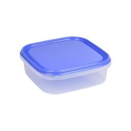 boite carre 1.3l avec couvercle - 19.5*19.5*h6cm - indigo