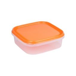 boite carre 1.3l avec couvercle - 19.5*19.5*h6cm - mangue