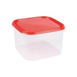 boite carre 2.8l avec couvercle - 19.5*19.5*h12cm - rouge