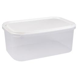 boite rectangle 4.4l avec couvercle - 29*19*h12cm - blanc